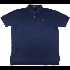 Vintage Polo by Ralph Lauren Navy Blue/Red Polo